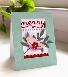 December Color Play - Merry Christmas Card by Lizzie Jones for Papertrey Ink (December 2014)