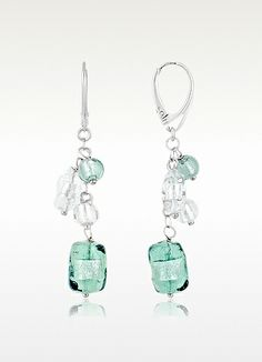 Antica Murrina Lybra -  Murano Glass and Sterling Silver Drop Earrings