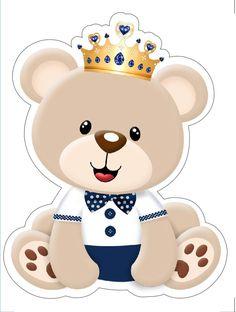ursinho principe Baby Shawer, Baby Art, Teddy Bear Baby Shower, Baby Boy Shower, Moldes Para Baby Shower, Baby Shower Greeting Cards, Bear Theme, Photo Album Scrapbooking, Baby Invitations
