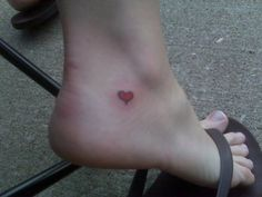 23 Simple Heart Tattoo Images, Pictures And Designs Ankle Tattoos, Dog Tattoos, Cat Tattoo, Tatoos, Heart Tattoo Images, Simple Heart Tattoos, Trendy Tattoos, Tattoos For Women, American Tattoos