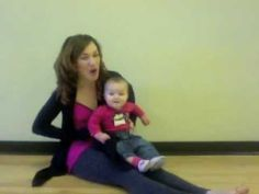 Popcorn: Baby Knee Bounce Rhyme The vestibular system first begins to develop while your baby is in the womb and continues throughout her first 5 years of life. The vestibular system helps your baby analyze where she is in space as well as the relations between her body parts and movements in relation to one another. This is important for developing body awareness and balance as well as processing sensory information.