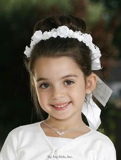 TT_492 - Head Wreath Crown in Choice of Color - Headpieces - Flower Girl Dress For Less