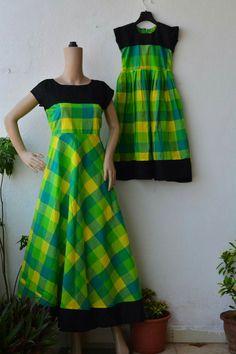 Frocks For Girls, Dresses Kids Girl, Kids Frocks, Baby Dresses, Kalamkari Dresses, Ikkat Dresses, Churidar Designs, Kurta Designs Women, Dress Neck Designs