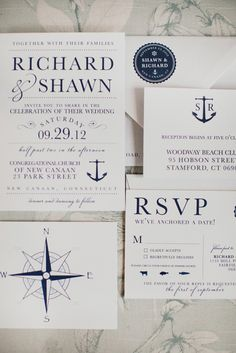 nautical wedding invitations // photo by Christina Szczupak // invitations by Seahorse Bend Press