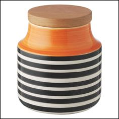 Kitchen Orange Storage Jars
