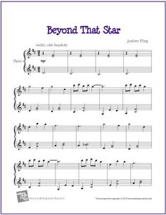 Beyond That Star   Free Sheet Music for Piano (Scheduled via TrafficWonker.com)