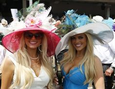 They love the big hats with flowers at the Kentucky Derby