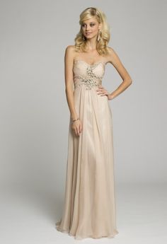 Bridesmaid Dresses - Strapless Chiffon Grecian Prom Dress from Camille La Vie and Group USA