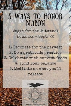 5 Ways to Celebrate Mabon - the Fall Pagan Holiday. Click through to read more or pin and save for later. 5 Ways to Celebrate Mabon - the Fall Pagan Holiday. Click through to read more or pin and save for later. Mabon, Samhain, Wiccan Sabbats, Wicca Witchcraft, Pagan Witch, Gypsy Witch, Magick Spells, Harvest Moon, Autumn Harvest