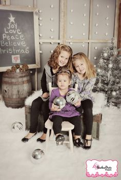 props for indoor family holiday photo shoot | christmas themed portraits hazlitt vintage rentals holiday family ...