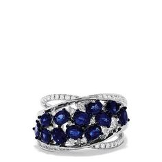 Exquisite sapphires and diamonds define elegance. Effy Jewelry, Jewelry Rings, Jewellery, Cyber Week Deals, Custom Jewelry Design, Black Friday Deals, Blue Rings, Holiday Fashion, Blue Sapphire
