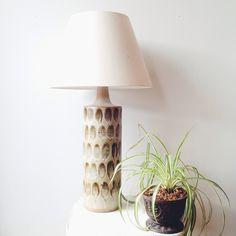 Vintage mid century pottery lamp