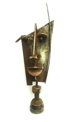 """Saatchi Art Artist Joseph Ayavoro; Sculpture, """"African Mask"""" #art"""