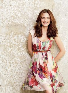 All about the flirty floral prints and easy going hair! (Emily Deschanel  Natural Health Magazine - June 2013)