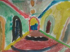 Para Marcos, un niño avilesino de 7 años participante en el programa CREActividades Educa Niemeyer, la exposición de Carlos Cruz-Diez en la cúpula del Centro Niemeyer, es como si te picara una cobra y se te llenaran los ojos de colores. Él ha interpretado su visita a la exposición como un pasadizo de color. Color Espacial Cruz-Diez: Ambientación Cromática en el Centro Niemeyer.