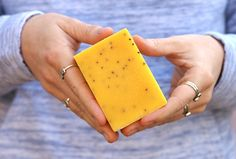 Sunny Side Soap - Orange - Natural Organic Handmade Skin Care and Beauty Products  from London Ontario Canada