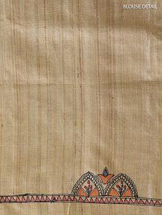 Madhubani Art, Madhubani Painting, Kalamkari Blouse Designs, Saree Painting Designs, Hand Painted Sarees, Tussar Silk Saree, Silk Sarees Online, Indian Paintings, Fabric Painting