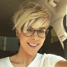 "5,618 Likes, 26 Comments - Pixie Short Hair Don't Care (@nothingbutpixies) on Instagram: ""Are you still tagging #pixieswithglasses ??? Are you loving @prozhanna stylish look in this…"""