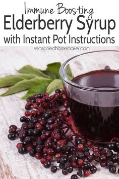 **Amy's recipe** Elderberry syrup is an ancient folk medicine used to boost immunity, overcome cold and flu symptoms, and reduce sinus congestion. This simple recipe works on the stove and Instant Pot. Elderberry Recipes, Elderberry Syrup, Elderberry Gummies, Elderberry Uses, Instant Pot Pressure Cooker, Pressure Cooker Recipes, Pressure Cooking, Slow Cooker, Cough Remedies For Adults