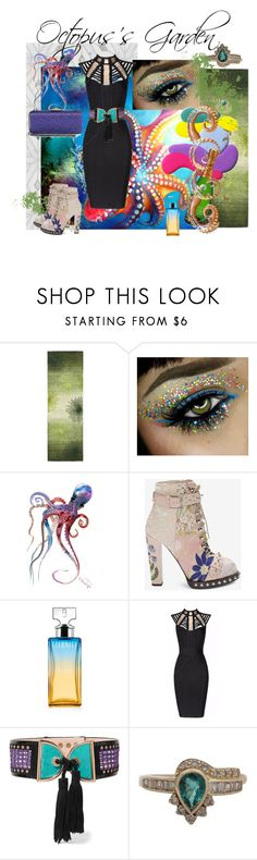 """""""Underwater Party"""" by love-kaleidoscope ❤ liked on Polyvore featuring Safavieh, Guide London, Pulpo, Alexander McQueen, Calvin Klein, Posh Girl, Balmain, Saks Fifth Avenue Collection, black and party"""
