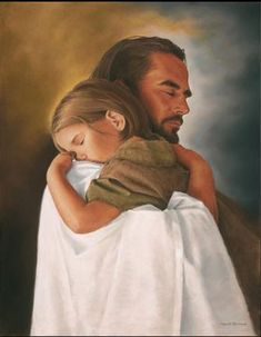 Security Wall Art Print of Jesus Christ Hugging Child By David Bowman Religious and Spiritual Art Print Poster Christian Jesus Christ Painting, Jesus Art, Jesus Christ Drawing, Paintings Of Christ, Jesus Christ Lds, Jesus Is Lord, Savior, Pictures Of Jesus Christ, Jesus Christ Images