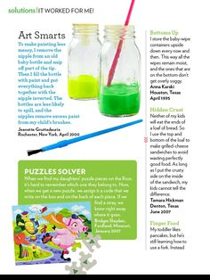 """Parents Magazine, """"It Worked For Me,"""" October 2011, Page 3"""