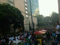 Fans outside the hotel right now Mexico