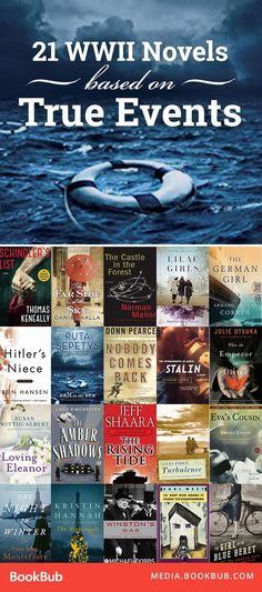 21 historical fiction novels about WWII and based on true stories. Including a great young adult book, too.