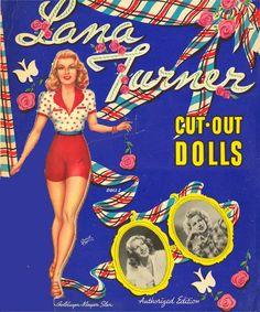 Lana Turner Paper Dolls, 1942 Whitman of Lana Turner, Will Turner, Laksa, Bobe, Vintage Paper Dolls, Dressmaking, Movie Stars, Dc Comics, Hollywood