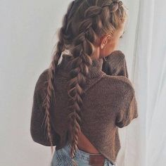 33 Coole Zöpfe Festival Frisuren, Hobo-Haare, # cool Braids two 33 Coole Zöpfe Festival Frisuren My Hairstyle, Pretty Hairstyles, Braided Hairstyles, Hairstyle Ideas, Quick Hairstyles, Hairstyles Tumblr, Picture Day Hairstyles, French Plait Hairstyles, Ladies Hairstyles
