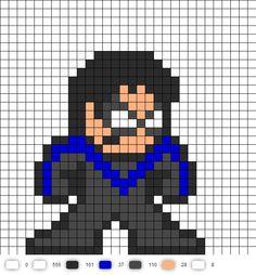 Nightwing Perler Bead Pattern