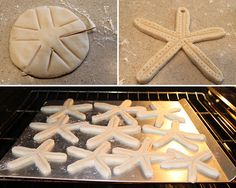 Starfish Garland made with salt dough! I am so going to do this with my girls to make ornaments this year!