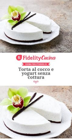 New Easy Cake : Coconut cake and yogurt without cooking, Yogurt Recipes, Tart Recipes, Sweet Recipes, Cooking Recipes, Torte Cake, Cake & Co, Weird Food, Cheesecake, Cake Cookies