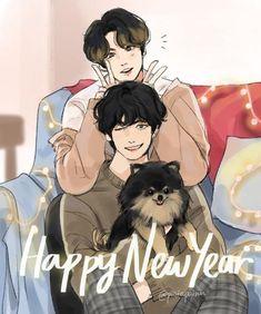 Fanart taekook  Happy New Year