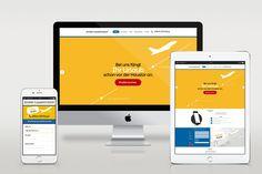 Design und grafische Gestaltung einer Landingpage (Onepager) für einen Transportunternehmer auf Basis von WordPress