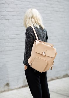 Nude backpack #bags #style #fashion