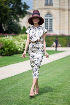 Couture Week. Ulyana Sergeenko Street Style Fall 2014