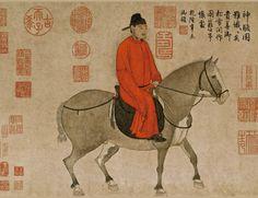 Man Riding a Horse - Zhao Mengfu (趙孟頫, 1254–1322)