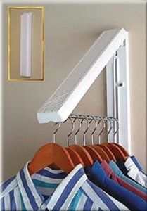 Arrow Hanger Instahanger Clothes Hanging System Organize the laundry room or utility closet Dry or freshen clothes outside Maximize your existing closet space Add creative clothes storage to RVs and boats Unique design Laundry Closet Organization, Closet Storage, Home Organization, Laundry Organizer, Laundry Room Drying Rack, Rv Storage, Storage Ideas, Drying Racks, Organizing Tips