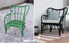 Easy diy rattan chair makeover Outdoor Chairs, Outdoor Furniture, Outdoor Decor, Chair Makeover, Rattan, Lifestyle Blog, Diy Ideas, Easy Diy, Ikea