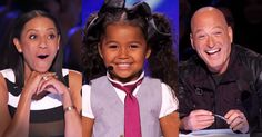 When 5-year-old Heavenly Joy took the stage the judges immediately fell in love. And when you hear this cutie sing and tap dance to 'In Summer' you'll fall in love too. And what she says at the end about Jesus, well my heart's overflowing! Who else is thinking Shirley Temple?