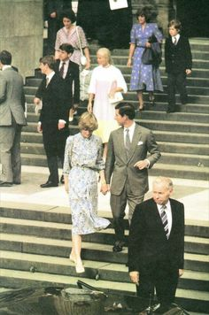 On Monday July 27th 1981, Prince Charles and Lady Diana Spencer attended a final rehearsal prior to their wedding on July 29th.