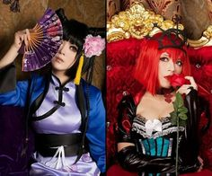 Black Butler- Ran-Mao and Ciel In Wonderland: Angelina Durlesss (Madam Red) as The Queen of Red Hearts