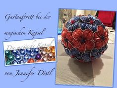 Make flower ball from Nespresso capsules for the garden itself – the magical … - Crafts For Christmas Glue Crafts, Metal Crafts, Crafts To Sell, Diy And Crafts, Diy Nespresso, Creation Deco, Flower Ball, Handmade Flowers, Flower Crafts