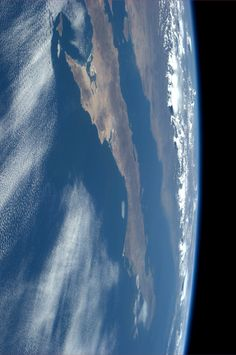 Baja Peninsula.  KN from space.