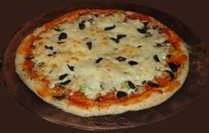 One can never have too much #pizza - #homemade #0rganic - #baked on a stone - #olives over the #cheese ... under it? Sweet bell #peppers, #mushrooms, turkey #pepperoni and more! Free, Easy #Recipes @ http://www.FoodCult.com - A Place for Galganov's Recipes and More - Food Matters!