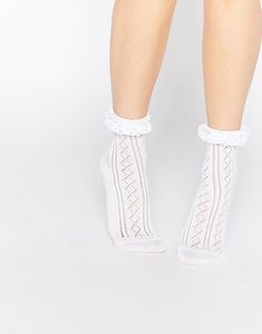 Discover the range of women's ankle socks with ASOS. Shop for women's tights, socks and hosiery available from ASOS. Latest Fashion Clothes, Latest Fashion Trends, Fashion Online, Asos, Frilly Socks, Cool Socks, Sexy Stockings, Ankle Socks, Online Shopping Clothes