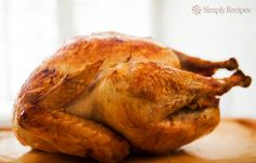 Mom's Roast Turkey ~ My mother's tried and true roast turkey recipe. How to cook a turkey for Thanksgiving. Best way? Roast it Breast-side Down! ~ SimplyRecipes.com