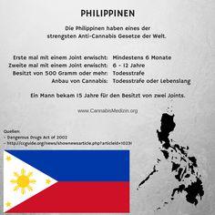 Die Philippinen haben eines der strengsten Anti-Cannabis Gesetze der Welt. Ein Beispiel wie man falsch mit dem Thema Cannabis umgehen kann.  Cannabis Hanf Hemp Weed Marijuana Marihuana