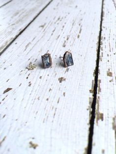 Hey, I found this really awesome Etsy listing at https://www.etsy.com/listing/253224863/raw-kyanite-studs-blue-kyanite-crystal